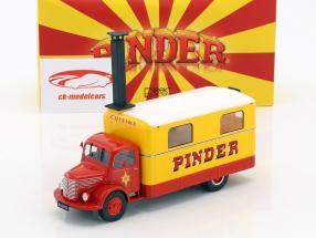 Unic ZU 51 Køkken lastbil Pinder cirkus Opførselsår 1952 gul / rød 1:43 Direkt Collections