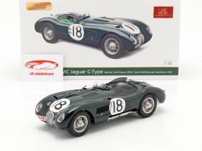 Jaguar C-Type #18 Vinder 24h LeMans 1953 Rolt, Hamilton 1:18 CMC