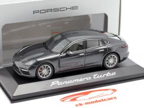 Porsche Panamera Turbo (2. Gen.) Byggeår 2016 vulkan Grå metallisk 1:43 Herpa