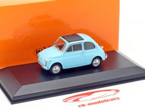 Fiat 500 L année de construction 1965 bleu clair 1:43 Minichamps