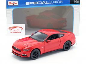 Ford Mustang Année de construction 2015 rouge 1:18 Maisto