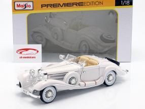 Mercedes Benz 500K Especial Bj Roadster 1936 branco 1:18 Maisto