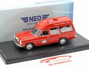 Mercedes-Benz 220D (W115) Binz Ambulance red 1:43 Neo