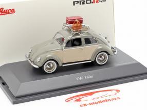 Volkswagen VW besouro Ovali piquenique cinza / bege 1:43 Schuco