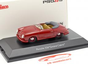 Porsche 356 Gmünd Cabriolet Open Top dark red 1:43 Schuco