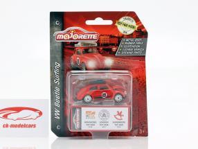Volkswagen VW besouro com prancha de surfe Toy Fair 2019 vermelho 1:64 Majorette