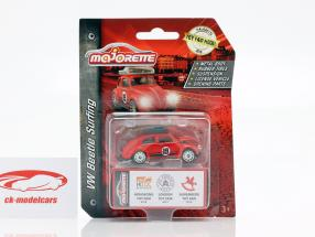 Volkswagen VW escarabajo con tabla de surf Toy Fair 2019 rojo 1:64 Majorette