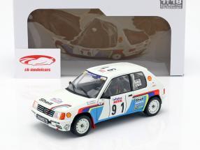 Peugeot 205 Rallye #91 Rallye Tour de Corse 1989 Le Bihan, Kervarrec 1:18 Solido