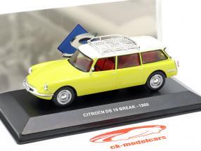 Citroen DS19 Break Bouwjaar 1960 geel / wit 1:43 Solido