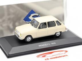 Renault 6 année de construction 1970 crème blanc 1:43 Solido