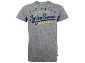 Ayrton Senna T-Shirt Vintage Sao Paulo melange grigio