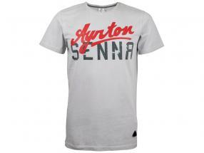Camiseta Ayrton Senna gris claro