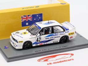 BMW M3 (E30) #42 winnaar Bathurst WTCC 1987 Cecotto, Brancatelli 1:43 Spark