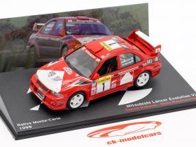 Mitsubishi Lancer Evo VI #1 vincitore Rallye Monte Carlo 1999 Mäkinen, Mannisenmäki 1:43 Altaya