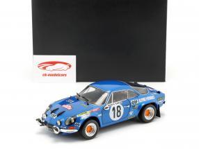 Alpine A110 #18 vencedor Rallye Monte Carlo 1973 Andruet, Biche 1:18 Kyosho
