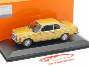 Mercedes-Benz 230CE (W123) año de construcción 1976 oro metálico 1:43 Minichamps