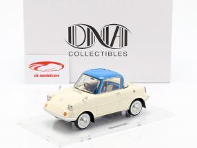 Mazda R360 anno di costruzione 1960 crema bianco / blu 1:18 DNA Collectibles