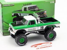 Ford F-250 Monster Truck Opførselsår 1974 grøn / hvid 1:43 Greenlight