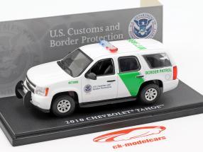 Chevrolet Tahoe confine pattuglia anno di costruzione 2010 bianco / verde 1:43 Greenlight