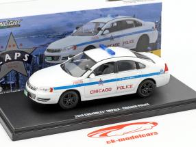 Chevrolet Impala Chicago Police Bouwjaar 2010 wit 1:43 Greenlight