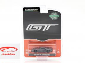 Ford GT year 2019 carbon Series gray / black / orange 1:64 Greenlight