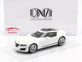 Saab Aero-X año de construcción 2006 blanco 1:18 DNA Collectibles