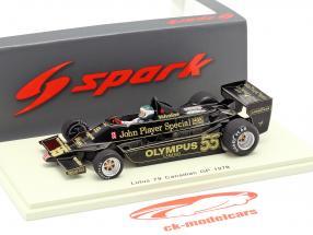 Jean-Pierre Jarier Lotus 79 #55 Canada GP formula 1 1978 1:43 Spark