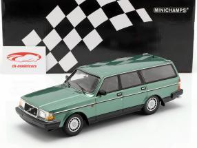 Volvo 240 GL Break año de construcción 1986 verde metálico 1:18 Minichamps