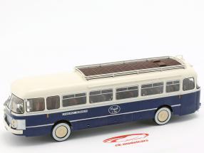 Saviem Chausson SC1 bus Frankrijk Bouwjaar 1960 blauw / crème 1:43 Altaya