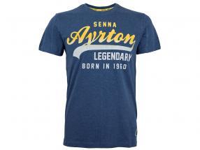 Ayrton Senna T-Shirt Vintage blau