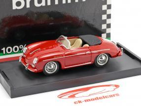 Porsche 356 Speedster année de construction 1952 rouge avec beige intérieur 1:43 Brumm