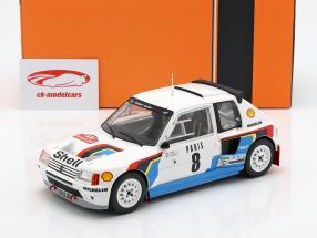Peugeot 205 T16 #8 Rallye Monte Carlo 1985 Saby, Fauchille 1:18 Ixo
