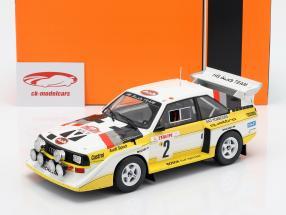 Audi Sport Quattro S1 E2 #2 cuarto Rallye Monte Carlo 1986 Röhrl, Geistdörfer 1:18 Ixo