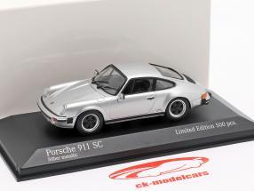 Porsche 911 SC Baujahr 1979 silber metallic 1:43 Minichamps
