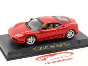 Ferrari 360 Modena ano 1999-2005 vermelho 1:43 Altaya