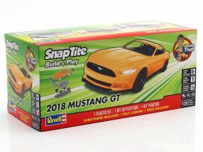 Ford Mustang GT Opførselsår 2018 kit appelsin 1:25 Revell