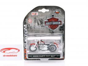 Harley Davidson FLSTF Fat Boy anno di costruzione 2000 argento / bronzo 1:24 Maisto