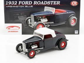 Ford Roadster Bouwjaar 1932 Washington blauw 1:18 GMP