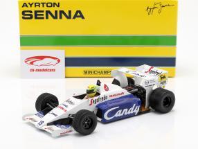 Ayrton Senna Toleman Hart TG184 #19 2º monaco GP fórmula 1 1984 1:18 Minichamps