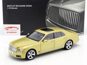 Bentley Mulsanne Speed year 2017 monaco yellow 1:18 Almost Real
