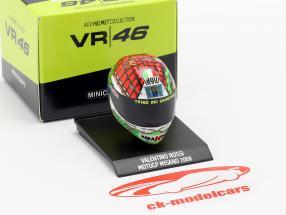 Valentino Rossi campeão do mundo MotoGP Misano 2008 AGV capacete 1:10 Minichamps