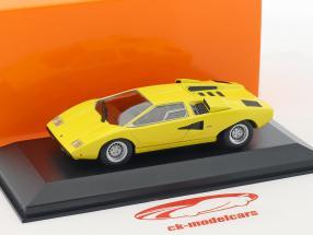 Lamborghini Countach année de construction 1970 jaune 1:43 Minichamps