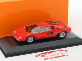 Lamborghini Countach année de construction 1970 rouge 1:43 Minichamps