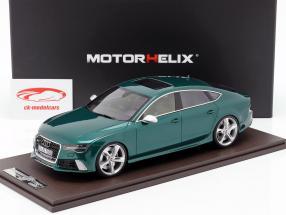 Audi RS7 Sportback Performance year 2016 green 1:18 MotorHelix
