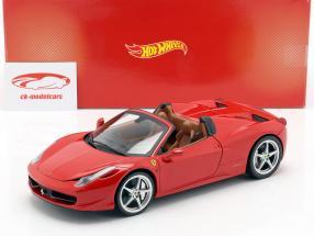 Ferrari 458 Italia Spider Bj. 2011 red 1:18 HotWheels Heritage