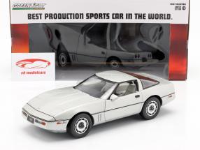 Chevrolet Corvette C4 Baujahr 1984 silber metallic 1:18 Greenlight