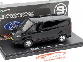 Ford Transit Custom V362 Opførselsår 2016 sort 1:43 Greenlight