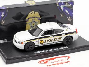 Dodge Charger US Secret Service Police year 2006 white / black 1:43 Greenlight