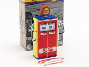 pompa di benzina Mopar Parts rosso / giallo / blu 1:18 Greenlight
