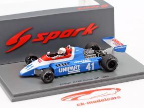 Geoff Lees Ensign N180 #41 Dutch GP formula 1 1980 1:43 Spark